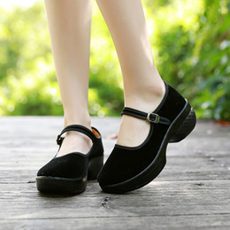 $enCountryForm.capitalKeyWord NZ - 2019 Hot sale Women's Buckle Round Toe Heel Breathable Casual National Style Shoes for dropshipping