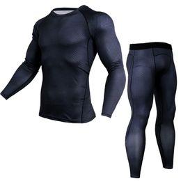 $enCountryForm.capitalKeyWord UK - Mens Sport Running Set Compression T-Shirt + Pants Skin-Tight Long Sleeves Fitness Rashguard Training Clothes Gym Yoga Suits