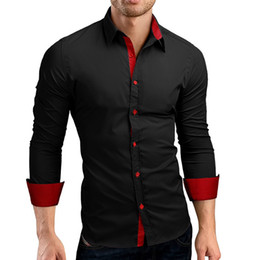 Spliced Shirt Australia - UNPADUPE 2019 Men Shirts Europe Size New Arrivals Slim Fit Male Shirt Solid splice Long Sleeve British Style Cotton Men's Shirt