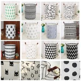 $enCountryForm.capitalKeyWord Australia - Ins Storage Print Basket Cactus Rabbit Can Stand Organization Pouch Kids Toys Storage Basket Bucket Clothing Laundry Bag Aaa1612