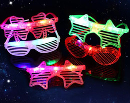 heart shaped glasses plastic Australia - Led Glasses Heart Shape Glowing Party Glasses Light Up Shades Rave Shutters Luminous Glass DJ Party Christmas Props Led Toy GGA2863