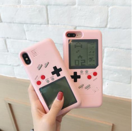 tetris console 2018 - Tetris Girl Heart Game Console for iPhone6 6P 7P 8 8P X XS XR New Tide Brand Mobile phone case Creative Electronic PC ca