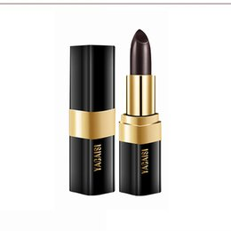 change lipstick UK - Black Rose Lipstick Black Taboo Color Changing Lipstick Does Not Fade Crystal Temperature Change
