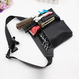 $enCountryForm.capitalKeyWord Australia - styling supplies Scissors Comb Waist Pack Bag Hairdressing Hairpin Salon Tool Case Hair Styling Supplies PU Bag 3 Color H7JP