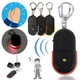 cheap remote lighting Australia - Anti-Lost Alarm Key Finder Locator Keychain Device Whistle Sound FinderLED Light Remote Controls Cheap Remote Controls