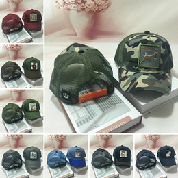 Snapback camp cap online shopping - Fashion Animals Embroidery Baseball Cap Unisex Adults Snapback Mesh Sport Cap Trucker Hat Adjustable Travel Sun Ball Hat TTA784