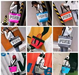 Victoria secret bags online shopping - 9 Colors Duffel Bags Canvas Secret Storage Bag Unisex Travel Bag Waterproof Victoria Casual Beach Exercise Luggage Bags CCA6912