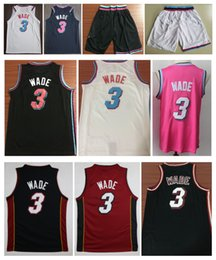 b2b193854 Venta al por mayor 2019 Men City 3   Dwyane Wade jersey cosido Whiteside  baloncesto camisetas