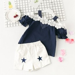 white lace short suit Australia - baby Girls Lace Set 2019 Children Wear New Korean Summer boy girls boutique clothing Sets kids sexy Casual Children suit girls kids clothing
