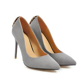 stiletto party office shoes Australia - Wholesale New Sexy Stiletto Heel Suede Back Ring Pointed Toe Women Pumps 105mm Fashion High Heels Shoes for Women Office Dress Shoes