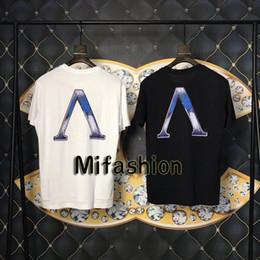 Reflective T Shirts Australia - 19ss Luxury Europe Paris Not Homme Colorful Print Back Big Logo Reflective Tshirt Fashion Men Women T Shirt High Quality Tee