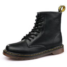 Male style boots online shopping - 2019 Fashion Motorcycle Boots Male Female Leather Martins Shoes Autumn Winter Styles Mid Calf High Unisex Boots Plus Size