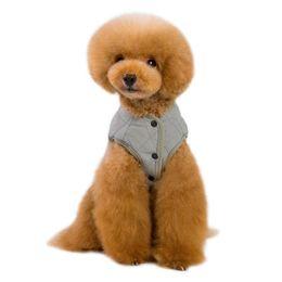 Small Size Coats NZ - Pet Dog Vest Jacket Clothing Autumn Winter Windproof Warm Dog Clothes Coat for Small Medium Large Dogs S-XXL 5 Sizes
