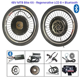 ElEctric convErsion kit bicyclEs online shopping - 20 inch Electric e Bike Conversion Kit V W Bicycle Hub Motor Front Rear Wheel Conversion Kits with Regenerative LCD display bluetooth