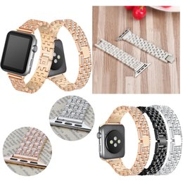 $enCountryForm.capitalKeyWord UK - Women Crystal Rhinestone Diamond Watch Bands Stainless Steel Bracelet Strap For iwatch Apple Watch Bands 38 42mm 40 44mm