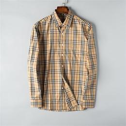 Wholesale shirts trim resale online – 2019 new European and American spring and autumn men s fashion shirt fashionable trim plaid classic men s casual business shirt shirtT18