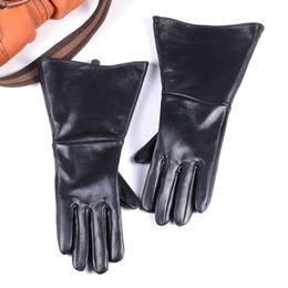 $enCountryForm.capitalKeyWord Australia - 35CM MEN'S 100% Genuine Leather BLACK SHEEPSKIN LEATHER MEDIEVAL RENAISSANCE LONG CUFF GAUNTLET GLOVES