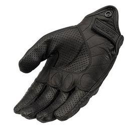 Leather Wrist Gloves Australia - Moto Racing Gloves Leather cycling gloves Perforated Leather Motorcycle Gloves black color M L XL size