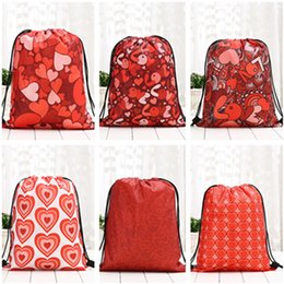 american backpacks Australia - European American hot sellers New style Bunch rope backpack Valentine's Day printed backpack Valentine's Day gift shopping bags T9I0088