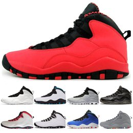 c128a736d04c23 Cheap 10 10s mens basketball shoes GS Fusion Red 10 cement Westbrook black  Tinker I m Back Bobcats sports Trainer Sneakers size 7-13