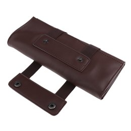 leather barber bags Australia - Roller PU Leather Scissor Bag Shear Holder Barber Hair Styling Storage Pouch
