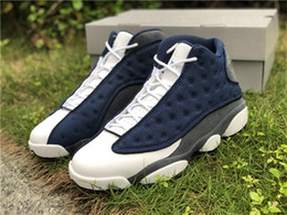 mesh fiber Canada - 2020 Newest 13 Flint Grey-White-University Blue GIGI 13S 3M Reflective Real Carbon Fiber Men Basketball Shoes Outdoors Sneakers with box
