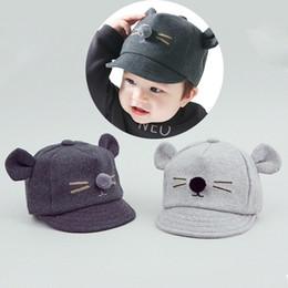 bbb3f8bfbdb New Winter Spring Baby Hat Cap Cute Cartoon Ears Baby Kids Baseball Caps Boy  Girl Sun Hats Newborn Photography Props