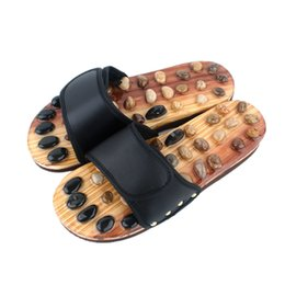 $enCountryForm.capitalKeyWord Australia - Medical Rotating Foot Massager Shoes Unisex 2019 newly Cobblestone Foot Massage Slippers Home Sandals Shoes Reflexology Gift