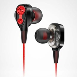 $enCountryForm.capitalKeyWord UK - Quad core double action ring earphone bass 3.5mm In ear wire controlled music HIFIi metal with Mic earphones for Phone Xiaomi