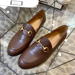 $enCountryForm.capitalKeyWord Australia - High quality two wear leather casual shoes semiflat flat shoes leather metal buckle decorative nonslip sexy street style ladies shoes qh