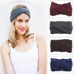 Crochet Hair Beanie Australia - Bohemia ladies wraps Turban Knitted Headbands Fashion winter protect Ear crochet cross Headwear Girl Hair Accessories wool warm beanie