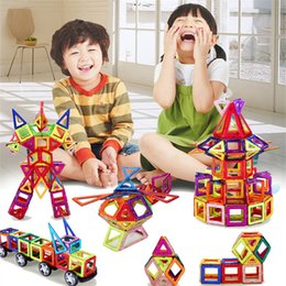 magnetic toy building blocks Canada - Standard Size DIY Magnetic building blocks magic magnet pulling assembled gifts for children 108 pcs set Factory Price Wholesale