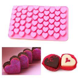 $enCountryForm.capitalKeyWord Australia - Silicon chocolate molds heart shape 55 holes silicon cake mold silicon ice tray jelly moulds soap mold cake bakeware tools