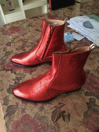 $enCountryForm.capitalKeyWord UK - New list high-end custom special rose red Shiny leather Martin boots cowboy fashion genuine leather comfortable breathable shoes