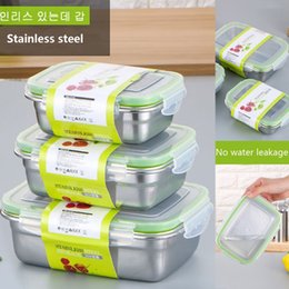 Wholesale Lunch box Stainless Steel Portable Picnic office School Food Container With Compartments Microwavable Thermal Bento Box Layer