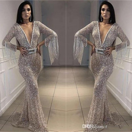 Hot pageant dresses online shopping - New Sequins Memaid Prom Evening Dress Hot Sheath Tassels Peals Party Cocktail Gown Sexy Formal Pageant Dresses Custom Made