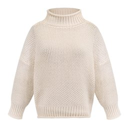 long warm dress jumpers Canada - 2020 Winter Autumn Sweaters Women thick Knitting Turtleneck Warm Knitted Sweater Long Sleeve Rivet Pullover Sexy Tops Jumper
