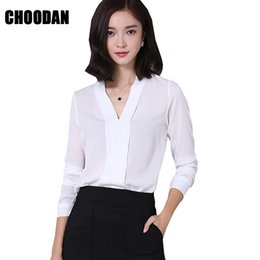 78272d4f5b1f3c Chiffon Blouse Shirt Sexy V Neck Long Sleeve Women Tops And Blouse 2018 New  Sping Summer Korean Fashion Office Ladies