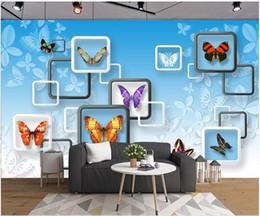 $enCountryForm.capitalKeyWord Australia - 3d wallpaper custom photo Beauty butterfly fashion box background wall living room home decor 3d wall murals wallpaper for walls 3 d
