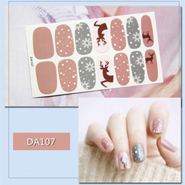 $enCountryForm.capitalKeyWord Australia - 50 sheets set Hot Sale Mixed Designs Nail Art Stickers Kit 3D Waterproof Full Wraps Adhesive Decal Stickers Manicure Wholesale