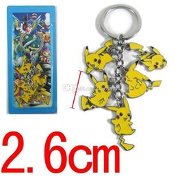 classic alloy NZ - 5set Anime Yellow Piakchu Christmas Metal Alloy Keychain Fans Accessories The Chain 5 Pendant Keychain Key Ring Key Chain