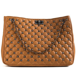 $enCountryForm.capitalKeyWord Australia - Big bags for women 2019 new korean style wild large capacity tote quilted rivet shoulder messenger bag ladies chain clutch bag