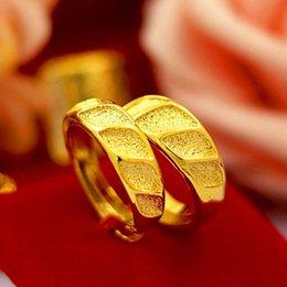 $enCountryForm.capitalKeyWord NZ - Gold shop 1:1 Vietnam Shajin couple men and women ring Brass gold-plated opening smooth matte ring imitation gold