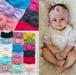 $enCountryForm.capitalKeyWord Australia - Baby Girls Knot Ball Headbands Kids Hair Band Children Headwear Boutique Hair Accessories 18 Colors Turban C5245