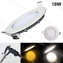 18w Round NZ - 18W Round Recessed Lamps LED Ultra Thin AC110V AC220V Aluminum Acrylic Side Emitting Warm White Led SMD2835 Ceiling Lights 205mm Cut DHL