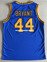 52851763a58 Cheap wholesale Kobe Bryant Jersey 44 Crenshaw High School Blue Customize  any name number MEN WOMEN YOUTH basketball jersey