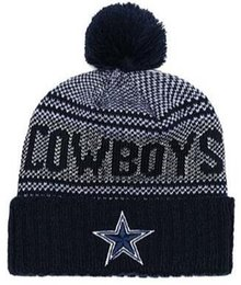 Matching Tie UK - 2019 Team Beanies Cap Cowboys Pom Sports Hats Mix Match Order 32 Teams All Caps in stock Knit Hat Top Quality More 5000+,Snapback Styles