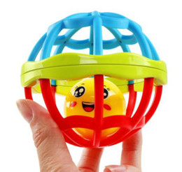 baby grasping rattles Australia - Baby Ball Toy Develop Intelligence Grasping Plastic Hand Bell Rattle Teeth Glue Funny Educational Mobiles Toys For Baby Gifts