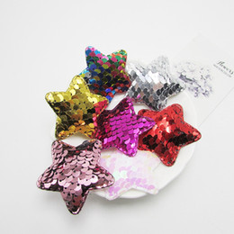 Wholesale 20 styles Sequin love heart girls hairclip handmade Diy accessories star bear head girl hairpin material