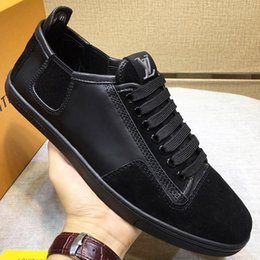 mens leather shoes designs Australia - 2019 highquality brand design shoes, mens shoes leather design sports shoes, mens running casual shoes brown and black with original pack qf